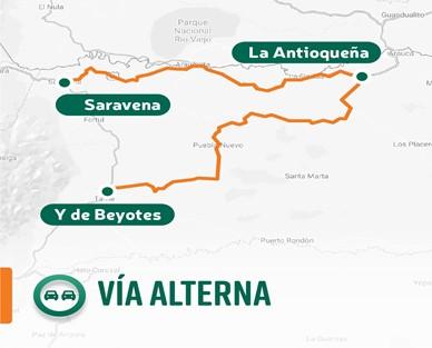 Vía alterna Fortul Sarvanea Arauca