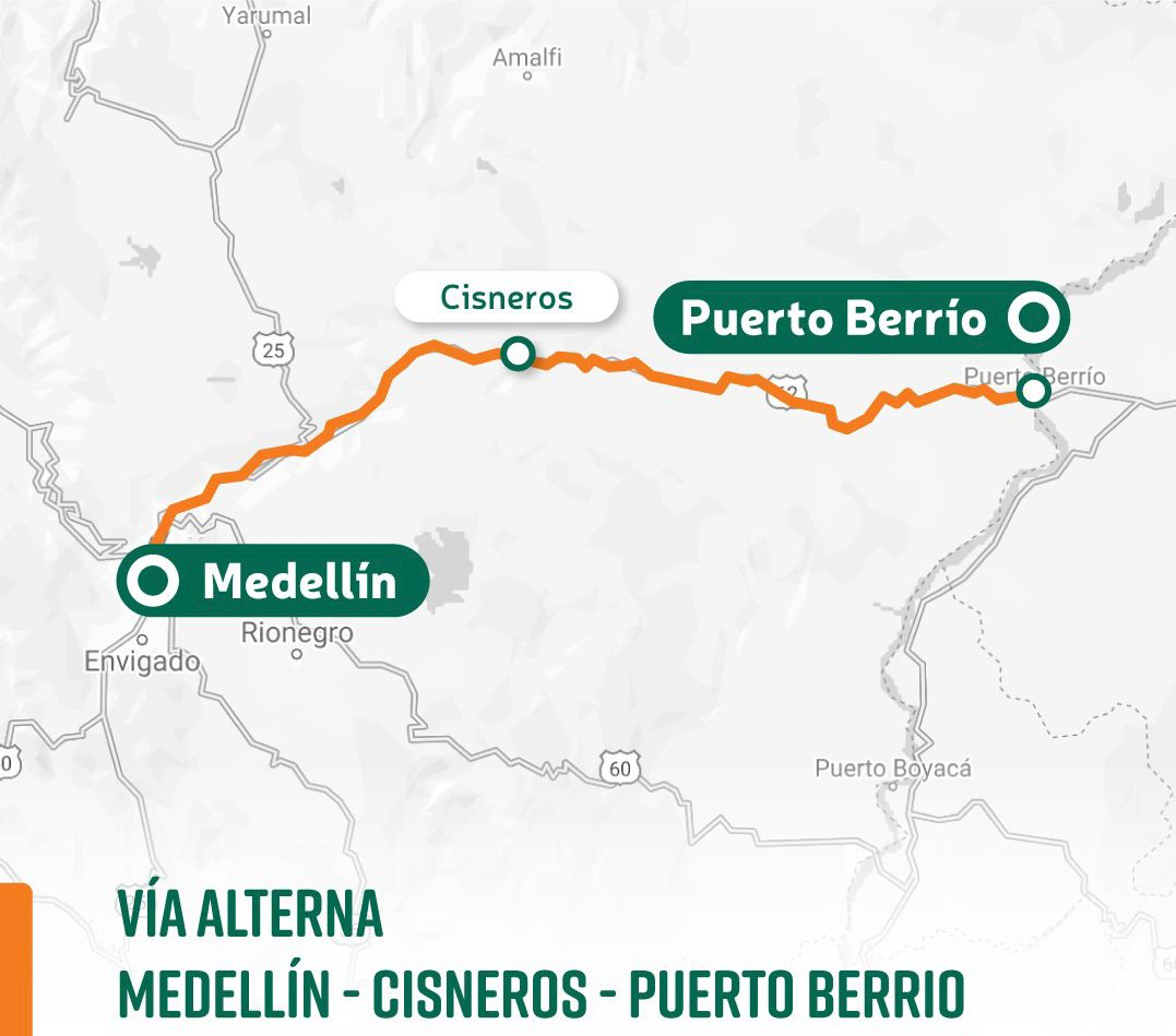 Ruta INVÍAS autoriza paso total en horario diurno en la vía Santuario - Caño Alegre, Antioquia