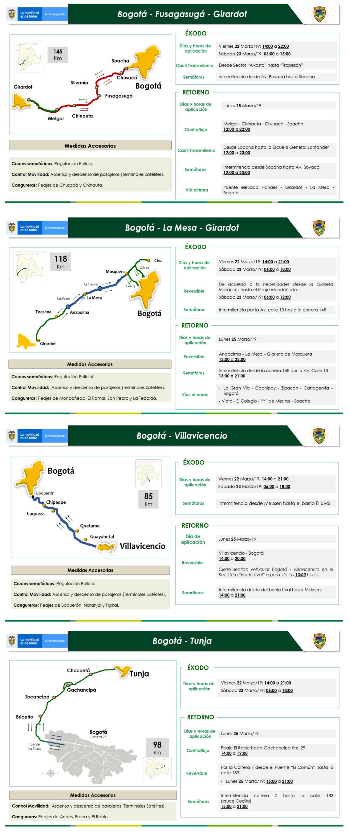 2 Restricciones para los vehículos de carga en puente festivo Día de San José