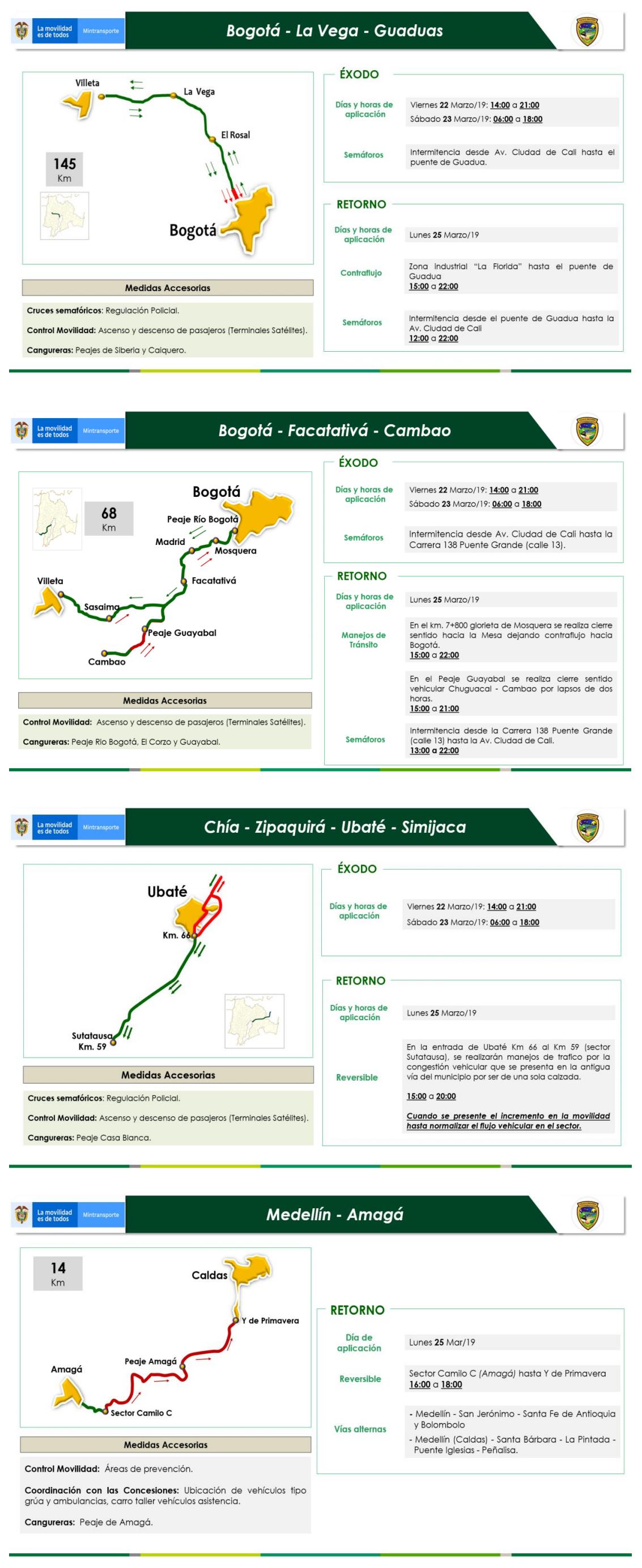 3 Restricciones para los vehículos de carga en puente festivo Día de San José