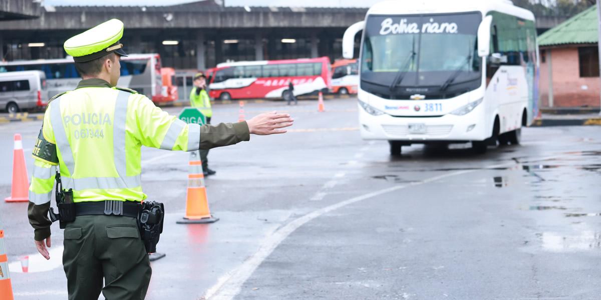 2 Policía Nacional implementa medidas especiales para la operación éxodo de viajeros en Puente Festivo de San José
