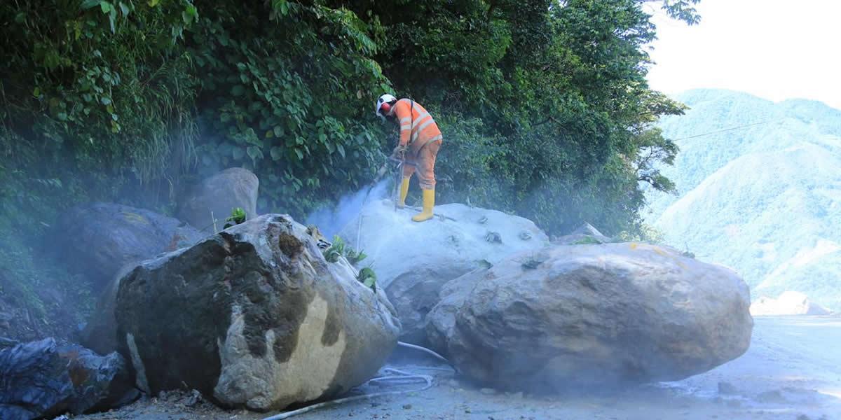 Más de 3.500 metros cúbicos de material se remueven al día en el kilómetro 58 de la vía Bogotá-Villavicencio