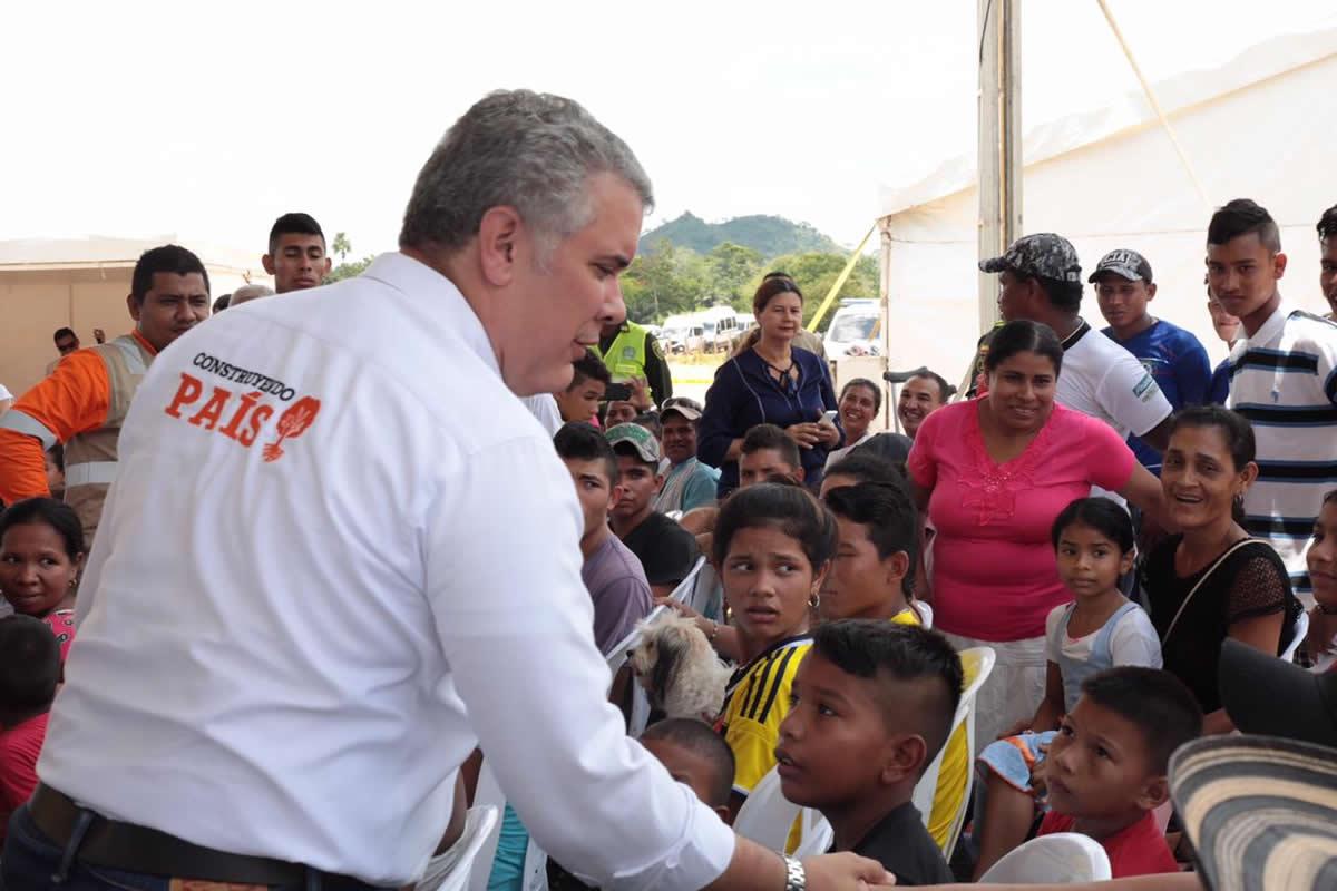 Presidente Duque entrega en Córdoba, 17 kilómetros del corredor Antioquía – Bolívar y el mejoramiento de 19 kms