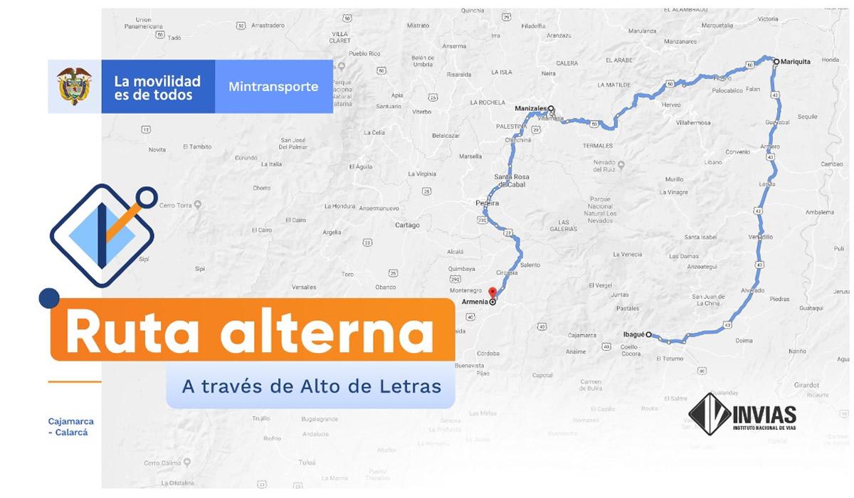 2INVÍAS informa sobre cierre nocturno en un sector del corredor Cajamarca – Calarcá