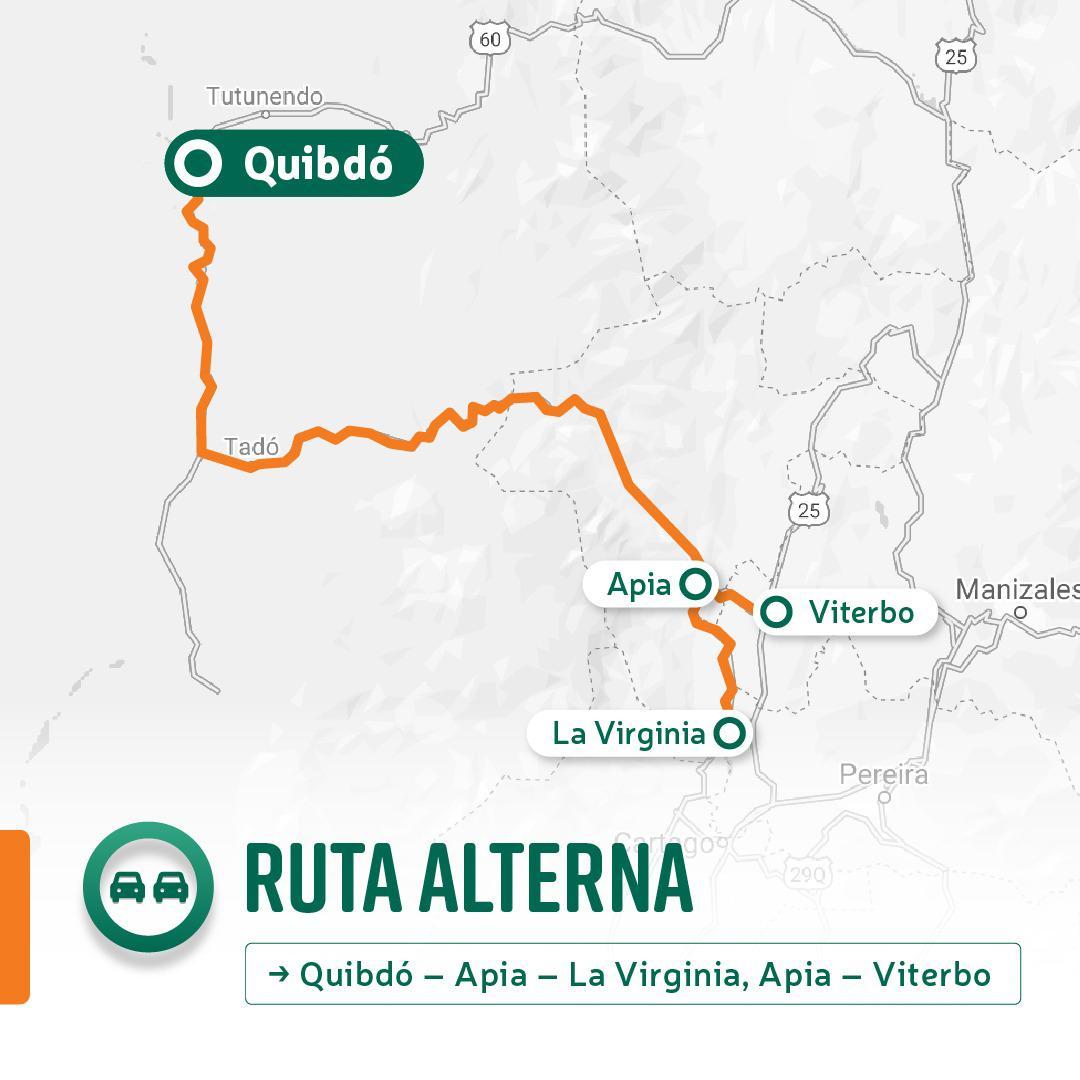 """Ruta alterna """"Recuperada la transitabilidad en los departamentos de Casanare y Antioquia, avanzan los trabajos en Chocó"""": INVÍAS"""