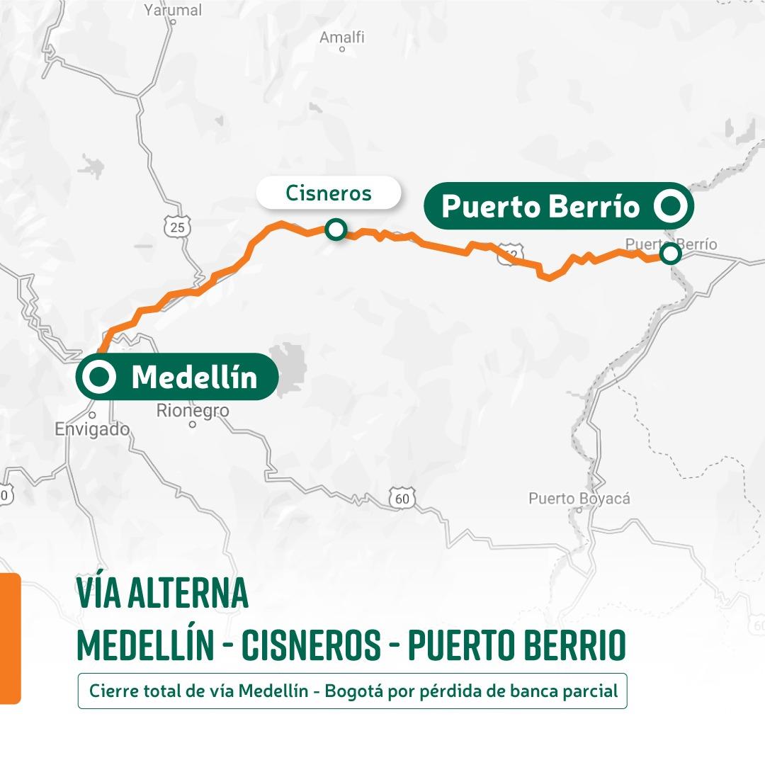 Desde el 12 de abril en el kilómetro 52 de la autopista Medellín – Bogotá se tendrá paso controlado entre las 12:00 m y 6:00 p.m.